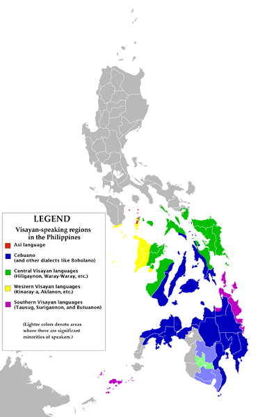 File:Visayan language distribution map.png - Wikipedia, the free ...