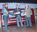 Vishaal Nityanand receiving Best Director award CMS Vatavaran International Film Festival-2011.jpg