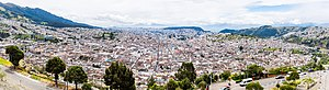 Quito - View of Quito from El Panecillo.