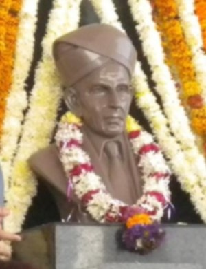 M. Visvesvaraya - Bust of Visvesvaraya at JIT