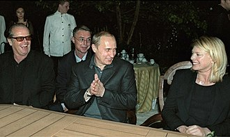 Peta Wilson - Peta Wilson with Jack Nicholson and Vladimir Putin in 2001