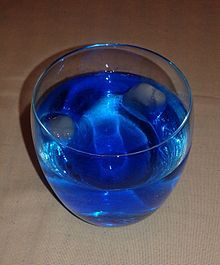 Vodka With Blue Curacao Syrup