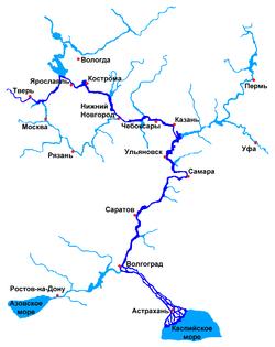 Волга и прилегающие водоемы