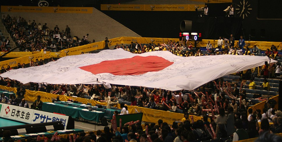 Volleyball WC 2006 Japan flag