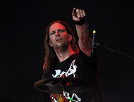Vomitory, Tobias Gustafsson at Party.San Metal Open Air 2013.jpg