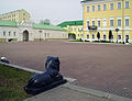 Vyksa. Lions Skulptures at Metallurgists Square.jpg