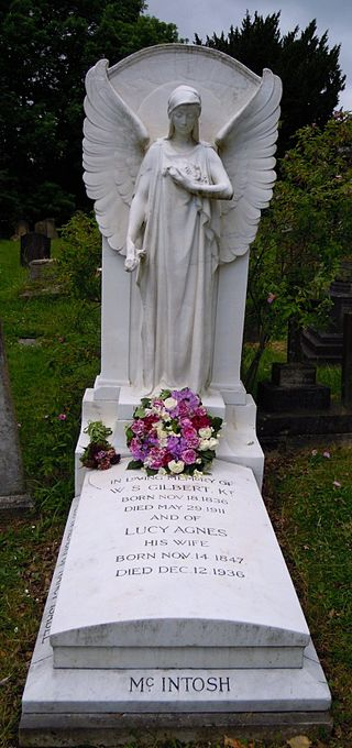 Grave of W. S. Gilbert at the Church of St. John the Evangelist, Stanmore W-s-gilbert-grave.jpg