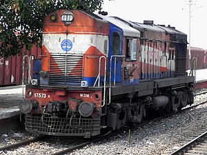 WDM 2 locomotive of Itarsi shed.jpg