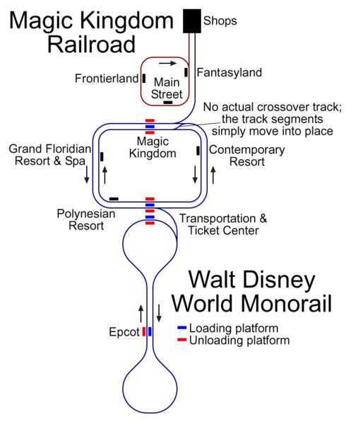Looking for Monorail Route Map... | The DIS Disney ...