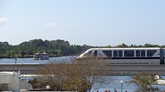 Magic Kingdom - The resort's monorail system and ferryboats transport guests to and from the Magic Kingdom.