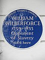 WILLIAM WILBERFORCE 1759-1833 Opponent of Slavery died here.jpg