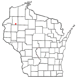 Location of Long Lake, Washburn County, Wisconsin