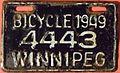 WINNIPEG MANITOBA 1949 -BICYCLE PLATE - Flickr - woody1778a.jpg
