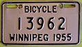 WINNIPEG MANITOBA 1955 -BICYCLE PLATE - Flickr - woody1778a.jpg