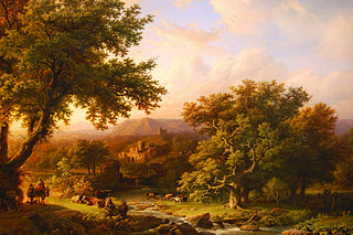 Landscape with Oaks and a ruin