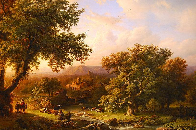 File:WLANL - adagio808 - Barend Cornelis Koekkoek, Landschap met eikenbomen en ruïne (1855).jpg