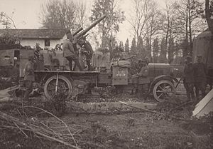 Eleventh Battle of the Isonzo - Italian 75mm anti-aircraft gun during the Eleventh Battle of the Isonzo