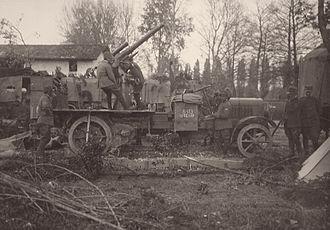 Eleventh Battle of the Isonzo - Italian 75mm anti-aircraft gun during the Eleventh Battle of the Isonzo