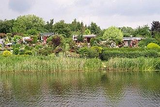 Wakenitz - Gardens at eastern bank in Lübeck