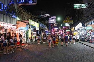 Walking Street, Pattaya - Image: Walking Street Night view 2018