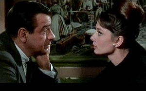Walter Matthau and Audrey Hepburn in Charade.jpg