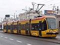 Warsaw tram PESA 120N at Most poniatowskiego.jpg