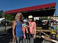 """Wasserweltfest 2012 - """"Zappa"""" Johann Cermak und Judith Pechoc mit Tochter Lisa-June.jpg"""