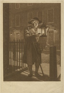 A city of London Watchman drawn and engraved by John Bogle, 1776