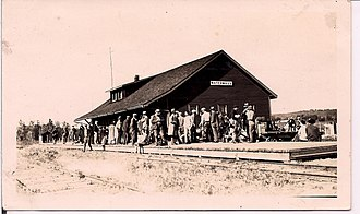 Northern Alberta Railways - View of the Waterways station, about 1920.