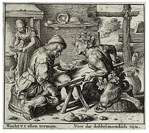 The Satyr and the Traveller - Image: Wenceslas Hollar The satyr and the peasant