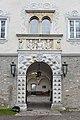 Wernberg Kloster Nordportal mit Supraporte mit Khevenhueller Brustreliefs 14112014 908.jpg