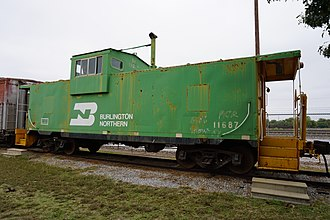 Burlington Northern Railroad - Burlington Northern caboose No. 11687 at the Wichita Falls Railroad Museum