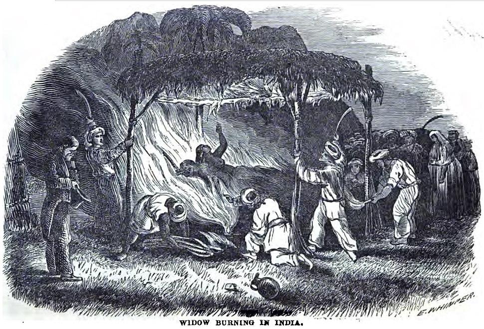 Widow Buring in India (August 1852, p.84, IX) - Copy