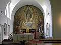 Wien-Ottakring - Wilhelminenspital - Spitalskirche hl Kamillus von Lellis - Innenansicht.jpg