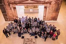 WikiArabia2016 group photo at Jordan's Museum.jpg