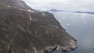 Melville Bay - Aerial view of Wilcox Head