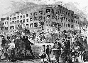 Willard InterContinental Washington - Franklin Pierce departs from the Willard Hotel for his inauguration, March 1853