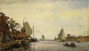 Willem Bastiaan Tholen - Image: Willem Bastiaan Tholen Zomers riviergezicht met zeilschepen