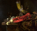 Willem Kalf, Still Life with Drinking-Horn, c. 1653, oil on canvas, National Gallery.png