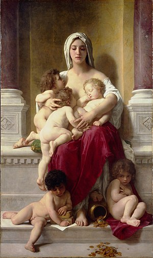 Charity (virtue) - Charity by William-Adolphe Bouguereau