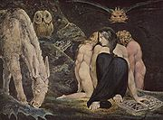 Hecate, 1795. Blake's vision of Hecate, Greek goddess of black magic and the underworld