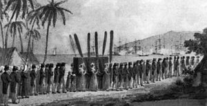 Keōpūolani - Sketch by Ellis of the funeral