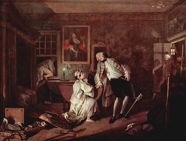 William Hogarth, Marriage A-la-Mode, scene 5