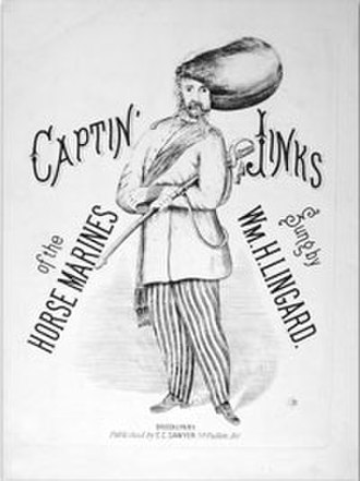 "William Lingard - Song sheet for Lingard's ""Captain Jinks"" performance, circa 1868."