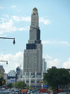 Downtown Brooklyn - The Williamsburgh Savings Bank Tower, a prominent symbol of Downtown Brooklyn