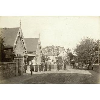 Winchmore Hill - The station c.1875.