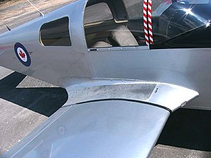 Wing root - The wing root of a simple aircraft, an American Aviation AA-1 Yankee, showing a wing root fairing
