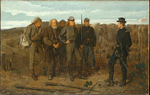 1866 in art - Winslow Homer: Prisoners from the front, 1866, The Metropolitan Museum of Art, Oil on canvas. 24 x 38in