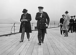 Winston Churchill and Lord Beaverbrook on HMS PRINCE OF WALES during the Atlantic Conference with President Roosevelt, August 1941. A4862.jpg