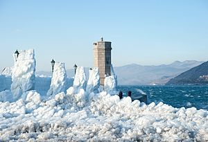 Winter bora in Senj